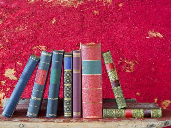 18443365 – books arrangement,free copy space