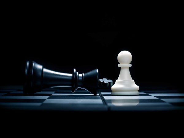 10620532 – chessmen. a pawn and the won king