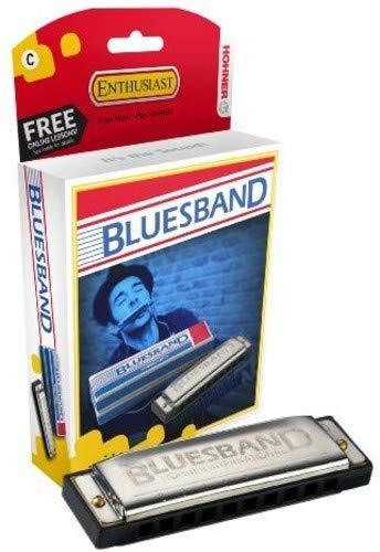 Hohner BluesBand M55901X - Armónica diatónica de 20 voces de iniciación diseñada para Blues