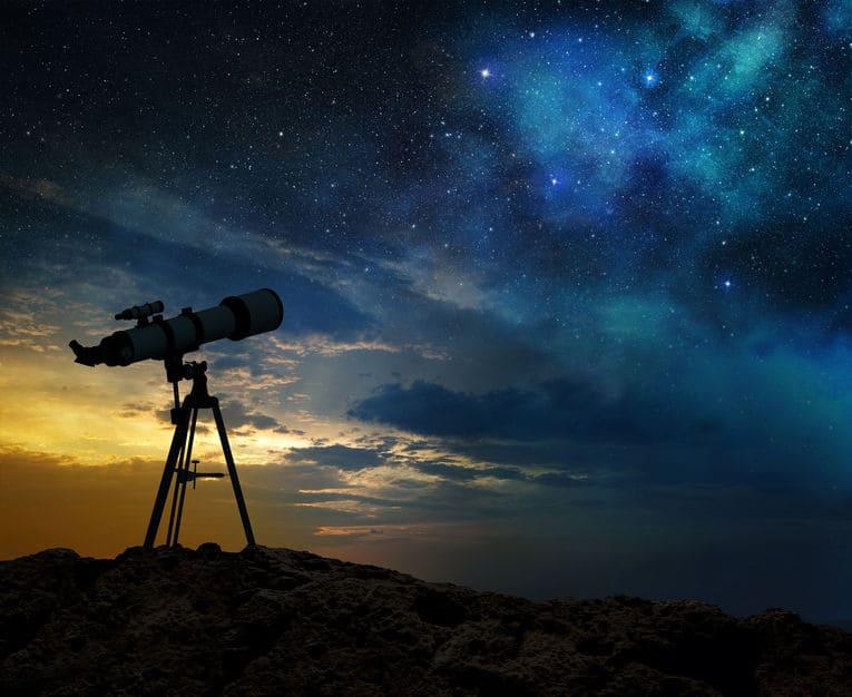 Telescopio al aire libre