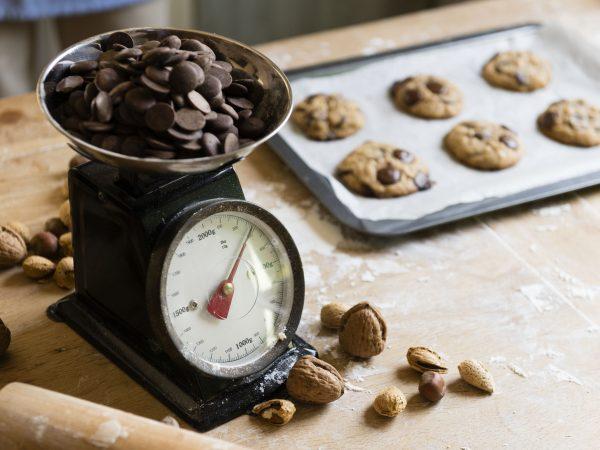 Homemade chocolate chip cookies food photography recipe