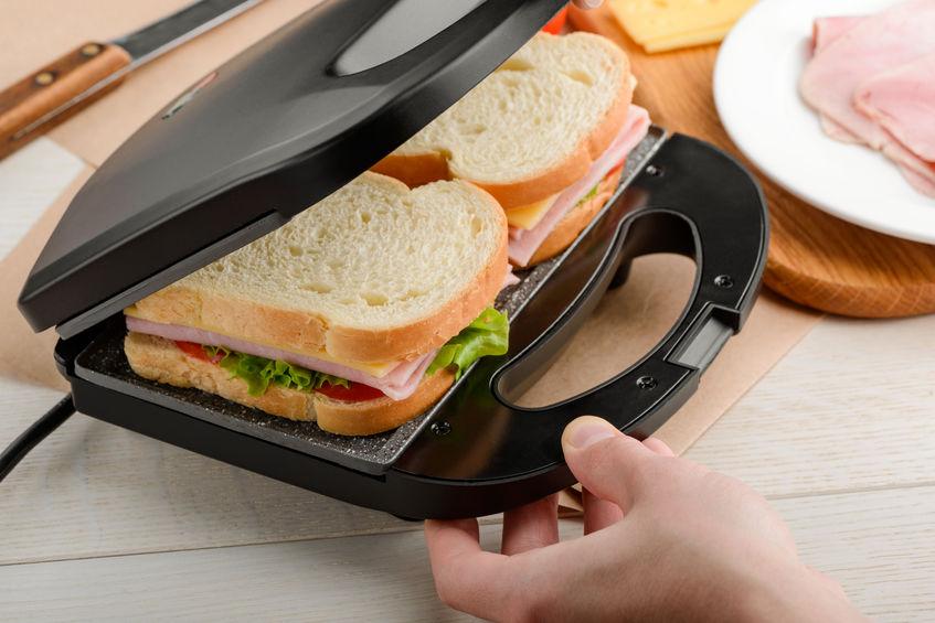Making sandwiches using panini press