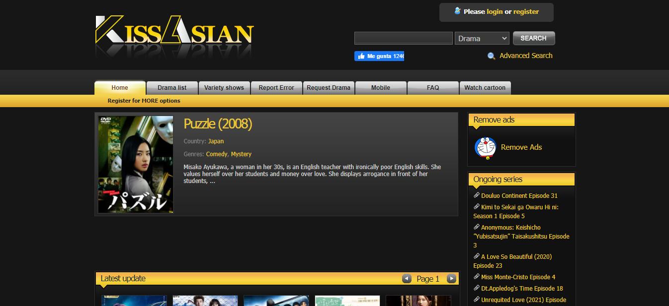 Plataforma en línea Kiss Asian