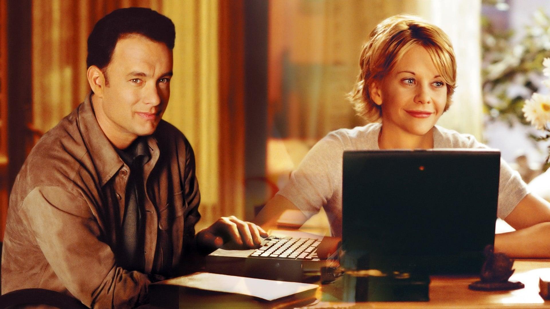 Escena de la pelicula romántica Tienes un e-mail