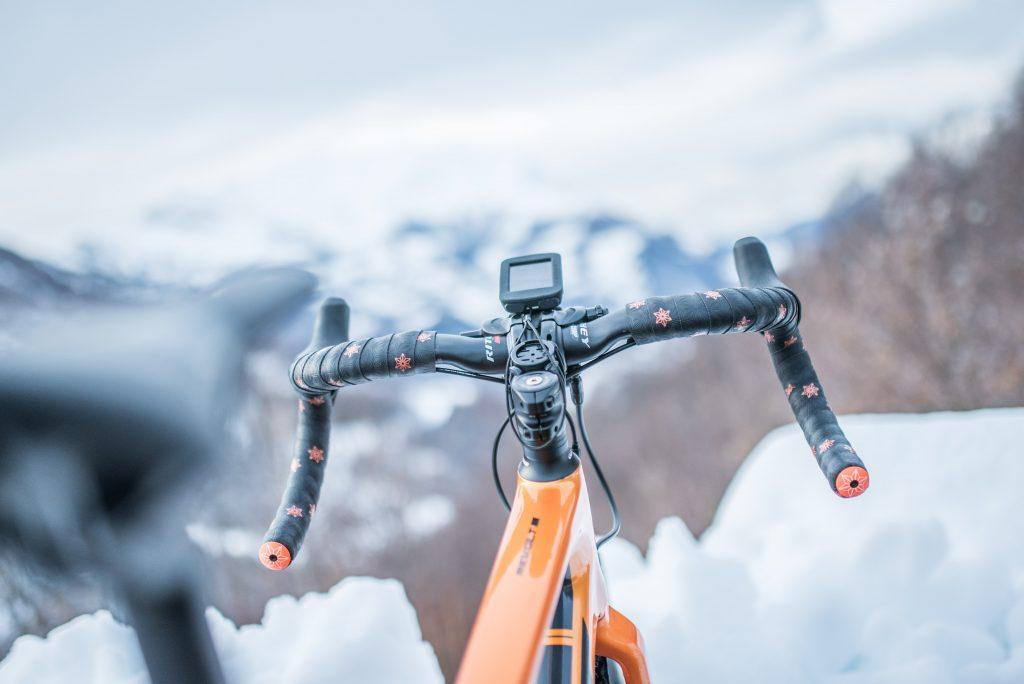 bicicleta con ciclocomputador