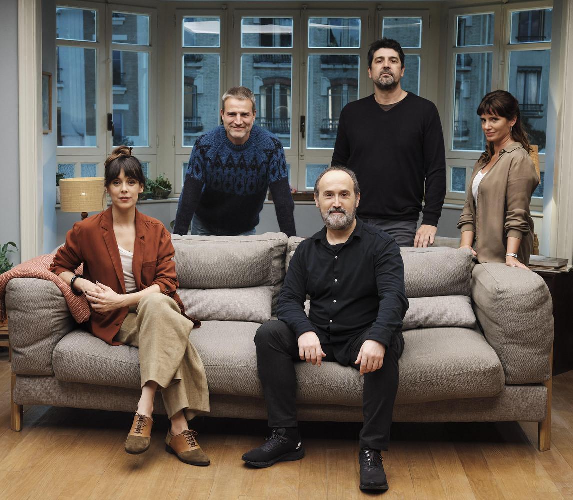 Los cuatro protagonistas de la película Sentimental