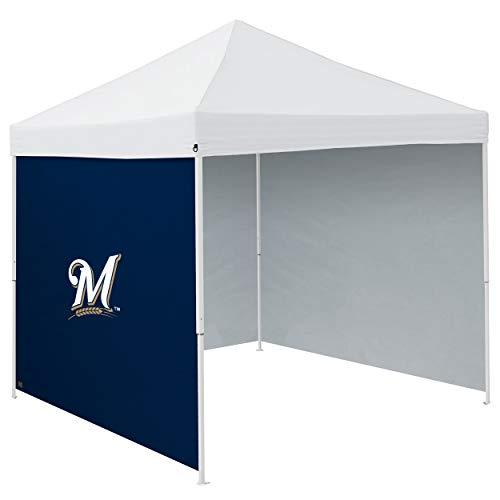 Logo Brands MLB Milwaukee Brewers Unisex 9x9 Panel Lateral 9x9, Azul Marino, Talla única (516-48)