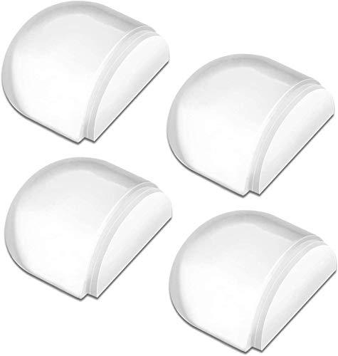 HAUSPROFI - Tope para puerta autoadhesivo para la protección de paredes y muebles, 4 unidades, transparente