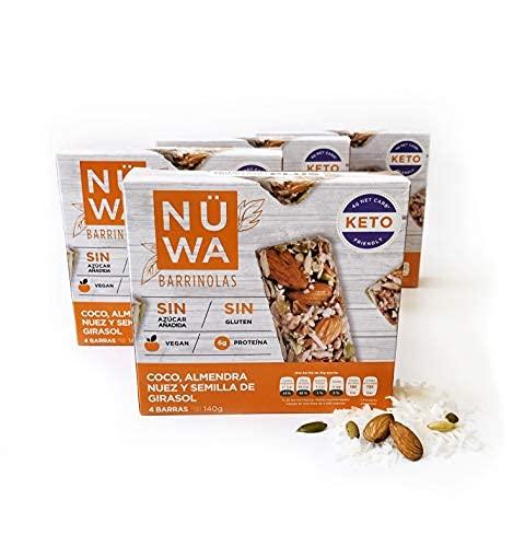 Barras KETO de Superfoods de Coco, almendra y semillas (24 pz)