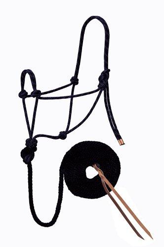Weaver Leather Diamond Cabestro de Cuerda Trenzada y guía, Negro, 1/2 X 10'