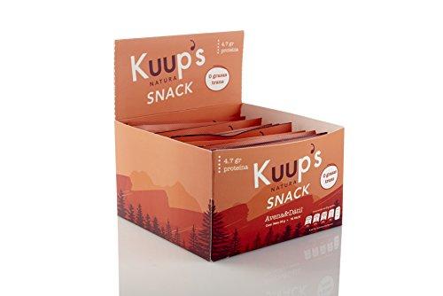 Barritas de Avena y Dátil x10 | Protein Bar KUUP'S Healthy Snacks Saludables | 10 Barras de Proteína por Pack | Botanas Saludables de Avena y Dátiles | Oatmeal and Dates Bar