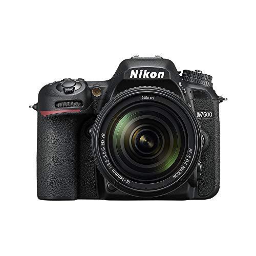 Nikon Cámara Reflex D7500 formato-DX con lente AF-S Dx Nikkor 18-140mm f/3.5-5.6 G ED VR, Negro