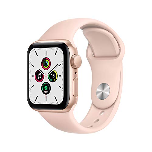 Apple Nuevo Watch SE GPS• Caja de Aluminio Color Oro de 40mm• Correa Deportiva Color Arena Rosa - Estándar