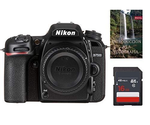 Cámara Nikon D7500 (Solo Cuerpo) - Formato DX, Sensor de 20.9mpx, Pantalla LCD 3.2