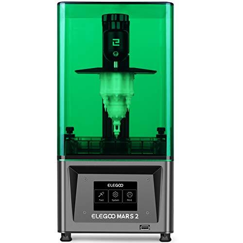 ELEGOO Mars 2 Mono MSLA Impresora 3D UV Photocuring LCD Resina Impresora 3D con LCD monocromo 2K de 6.1 pulgadas, tamaño de impresión: 129 x 80 x 150 mm