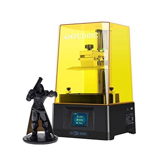 ANYCUBIC Impresora 3D Photon Mono, Impresora de resina UV LCD con pantalla 2K y detección de tapa abierta, riel lineal dual eje Z, tamaño de impresión: 130x82x165mm para resina de 405nm