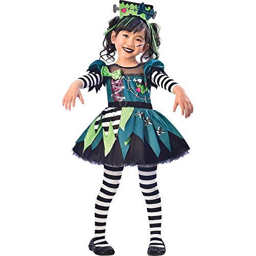 Disfraz de monstruo de Miss de Halloween para niñas, pequeño, incluye diadema, multicolor (8402363)