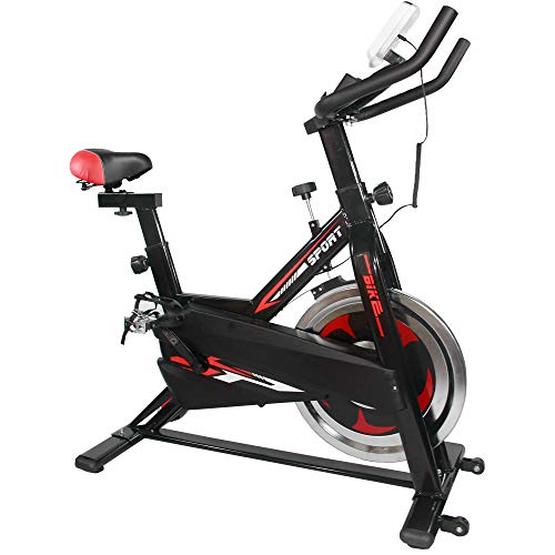 CENTURFIT Bicicleta Fija Disco Rueda de 7 Kg Estatica Spinning Fitness Cardio Ciclismo Interior Entrenamiento Cardiovascular Indor Gimnacio Gym Excelente Calidad Ejercicio Casa Oficina