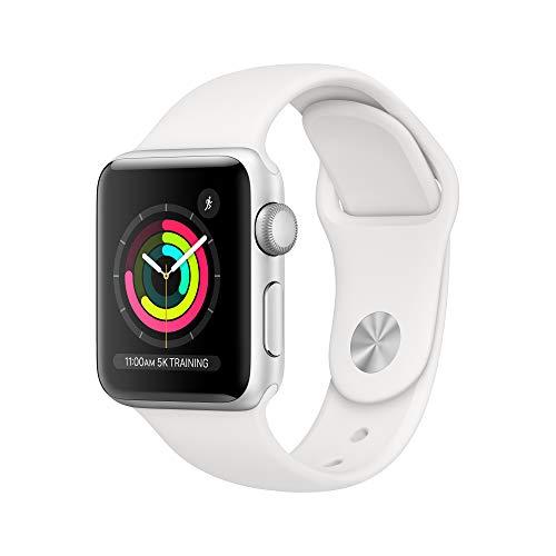 Apple Watch Series 3 GPS Caja de Aluminio Color Plata 38 mm Correa Deportiva Blanca