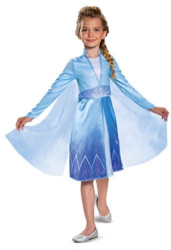 Disguise Disney Elsa Frozen 2 Classic - Disfraz de Halloween para niña, color azul, pequeño (4-6)
