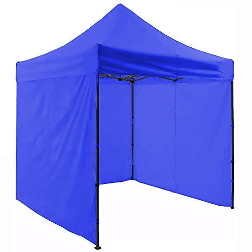 Carpa Paredes Lona Toldo 2mx2m Impermeable Plegable Jardin Gazebo Camping (Azul)