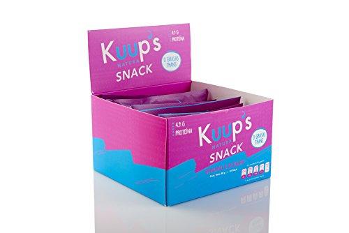 Barras de Proteína de Arándano y Blueberry x10| KUUP'S Snacks Saludables | Botanas Saludables | Protein Bar | Healthy Snacks | Barritas Energéticas | 10 Barras por Pack
