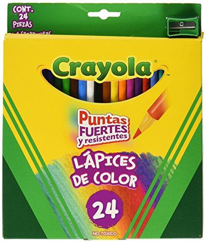 Crayola Lápiz de Color con Sacapuntas, Paquete de 24