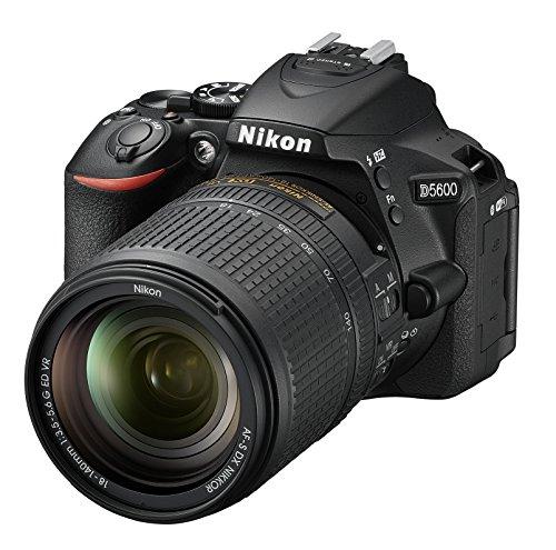 Nikon D5600 + AF-S DX 18-140mm G ED VR 24.2MP CMOS 6000 x 4000Pixeles Negro - Cámara digital (Juego de cámara SLR, CMOS, 6000 x 4000 Pixeles, 6000 x 4000, 4496 x 3000, 2992 x 2000, 23.5 x 15.6 mm, DX)