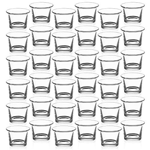 Royal Imports - Portavelas de vidrio, Transparente, Oyster, 36