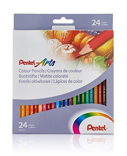 Lapices de Colores para Dibujo Pentel 24 U-CB8-24U