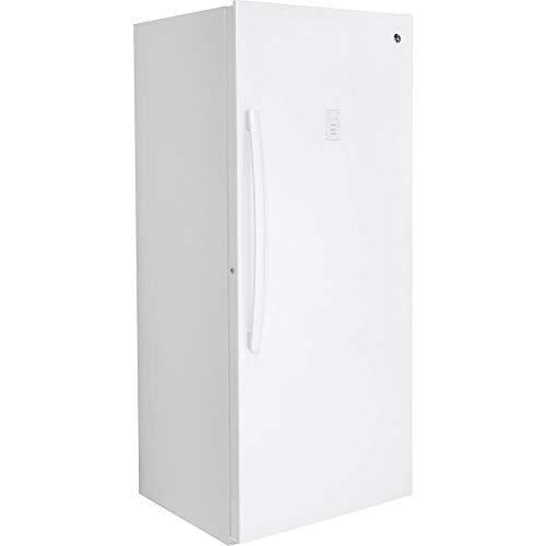 GE 21.3 Cu. Congelador vertical sin helado, color blanco