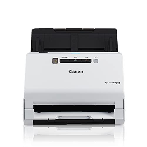 Canon imageFORMULA R40 - Escáner de Documentos de Oficina para PC y Mac, escaneo dúplex a Color, fácil configuración para Uso doméstico o en Oficina, Incluye Software de escaneo