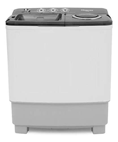 Hisense WSA1102PD - Lavadora Semiautomática, 2 Tinas, 11 kg Lavado/5,5 kg Centrifugado, Color Blanco