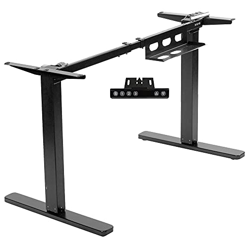 VIVO Soporte eléctrico para escritorios de pie que admite tableros de 38 a 75 pulgadas, Solo soporte, Motor único, Altura para una posición erguida ergonómica, Base ajustable con control simple, Negro, DESK-EV00B