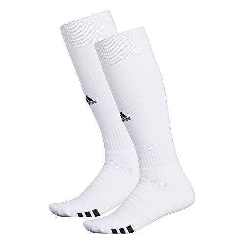 adidas Unisex Rivalry Field 2-Pack Otc sock, White/black, Large