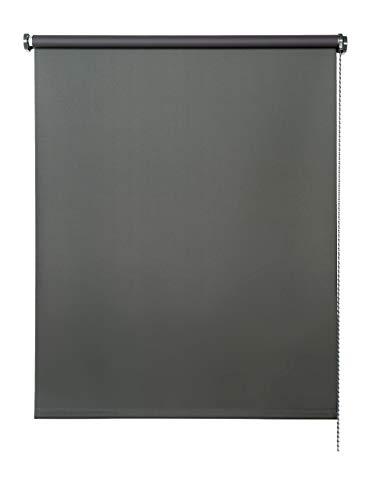 STOR Planet Persiana Enrollable Blackout Opaco, Mod. SP2040 Dimensiones 100 cm x 180 cm, Gris Oscuro