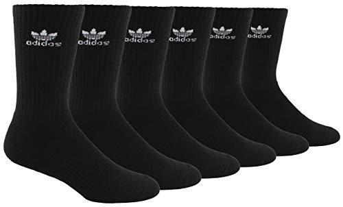 ADIDAS Originals 6 Pack Trefoil Crew Socks (Black)