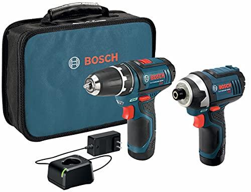 Bosch CLPK22-120 Kit combinado de 2 herramientas de 12 V máx. con Taladro/Atornillador de 3/8