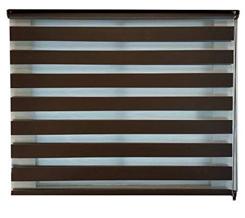 DECO Persiana Enrollable Sheer Elegance 120 X 180 Color Chocolate