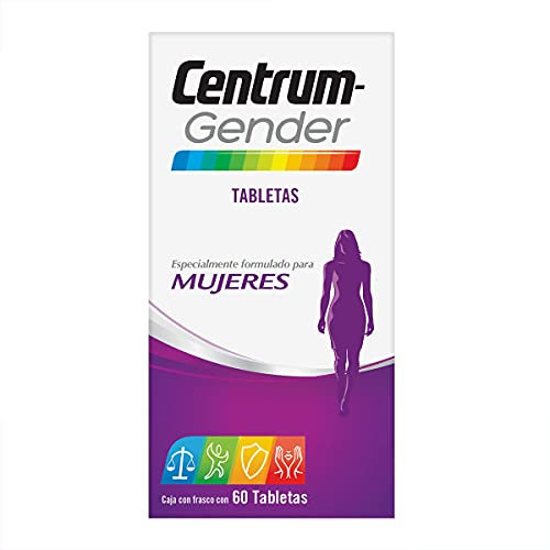 Centrum Multivitamínico Gender Mujeres Frasco con 60 tabletas