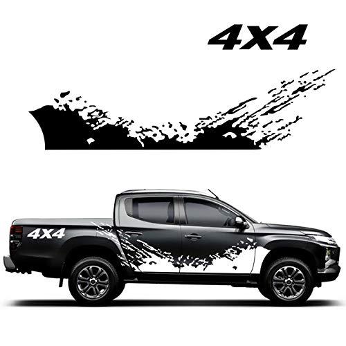Auto Pegatinas de Calcomanías Body Stripe Lateral, Para camioneta Raptor, calcomanía de vinilo 4X4 pegatina con gráficos de montaña, pegatina lateral para puerta de carrocería de estilo de coche
