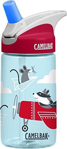 CamelBak Eddy Kids Botella de Agua, Eddy Kids .4L, Airplane Bandits