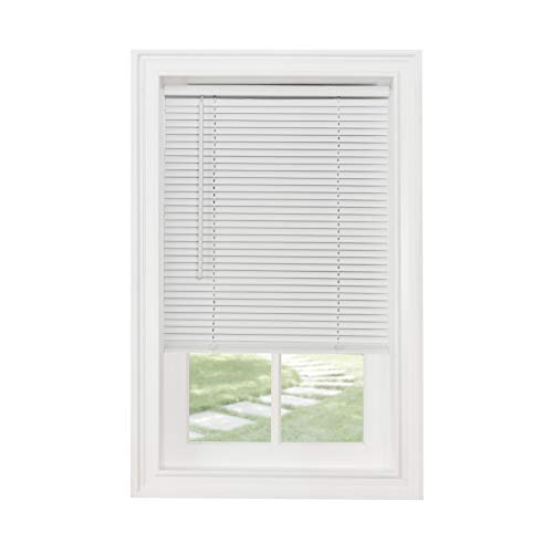 Achim Home Furnishings GII Morningstar Mini persiana de filtrado de luz de 1 pulgada, 23 x 42 pulgadas, color blanco