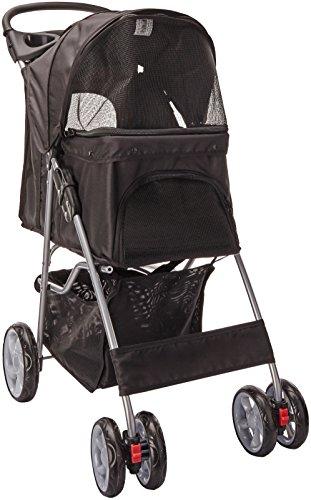 Oxgord Easy Walk Coche Plegable con Porta Mascota para Perro/Gato, Color Negro