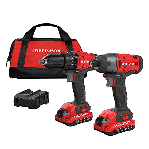 Craftsman V20* Kit combinado de taladro inalámbrico, 2 herramientas (CMCK200C2)