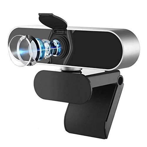Salandens Cámara web HD 1080P, Webcam PC con Microfono de vídeo digital en vivo con micrófono dual integrado, cámara de computadora USB, PC Mac portátil de computadora, cámara web de reducción de ruido para Xbox YouTube Skype