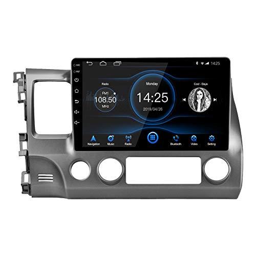 LEXXSON - Radio estéreo para coche Android 10.1, pantalla táctil capacitiva de 10.1 pulgadas, navegación GPS de alta definición, reproductor USB 2G DDR3 + 32G NAND Flash de memoria para Honda Civic 2007 2008 2009 2010 2011
