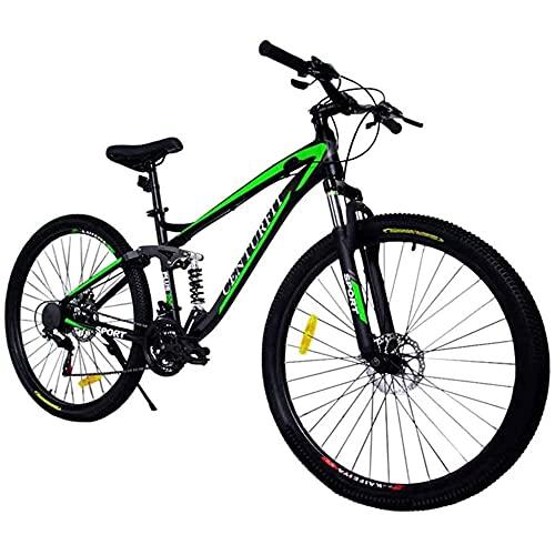 CENTURFIT Bicicleta Aluminio R29 21 Velocidades Verde Shimano Bicicleta Aluminio Montaña Rodada 29 Bicicletas Montaña 29 Aluminio Bici Montaña r29 Color Verde