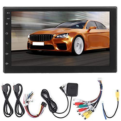Aosiyp Reproductor MP5 Reemplazo para automóvil, 7in 2Din Radio Reemplazo para automóvil Estéreo Navegación GPS Reproductor Pantalla táctil Reemplazo para Android 8.1