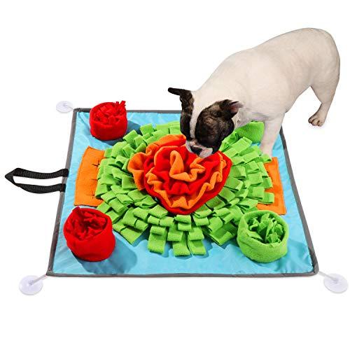 Alfombrilla para perros de 50 x 50 cm para perros con estimulación mental para perros y cachorros, alfombrilla de actividad para la nariz, rompecabezas para perros, juguetes de excavación para perros para liberar el estrés, fomenta las habilidades de forraje